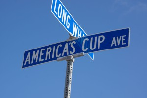 Amer. Cup street sign (1 of 1)